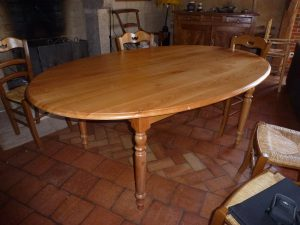 Table ovale a rallonges